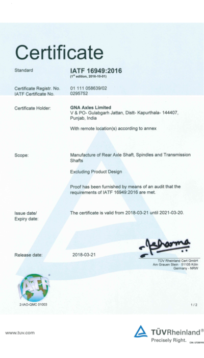 GNA Axles Site 2- Certificte 01 111 058639-02